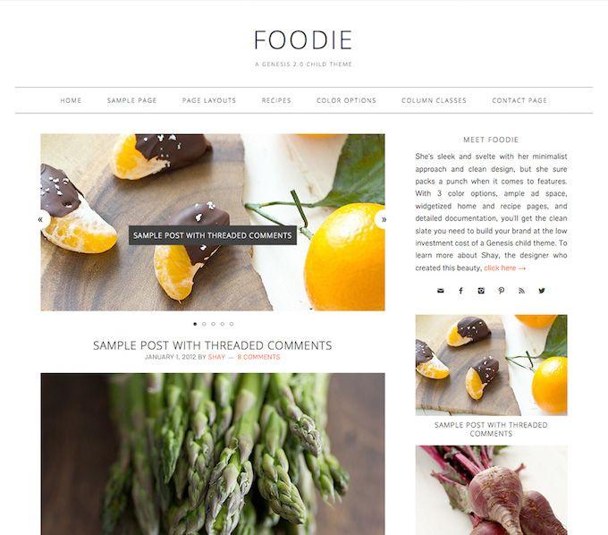 foodie wordpress theme - best wordpress themes for food blogs