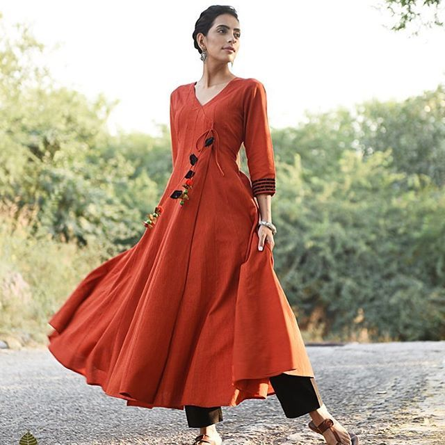 Handwoven Ikat and solid cotton kurtas, dresses, jackets & pants; available now on jaypore.com