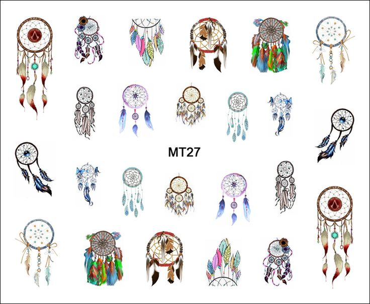 1 Sheet Nail MT27 Beauty Color Dream Catcher POP Nail Art Water Transfer Sticker Decal For Nail Art Tattoo Tips DIY Nail Tool