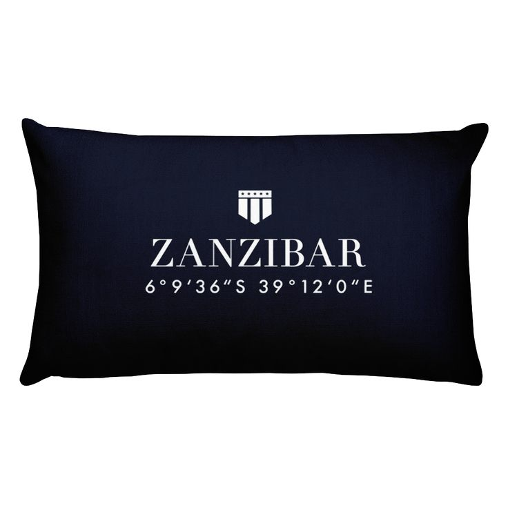 Zanzibar, Africa Pillow with Coordinates