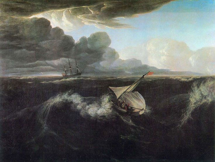 Washington Allston. Storm Rising at Sea, Date: 1804, Location: Museum of Fine Arts / Boston. Buy this painting as premium quality canvas art print from Modarty Art Gallery. #art, #canvas, #design, #painting, #print, #poster, #decoration