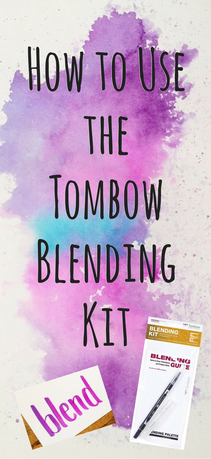 How to Use the Tombow Blending Kit