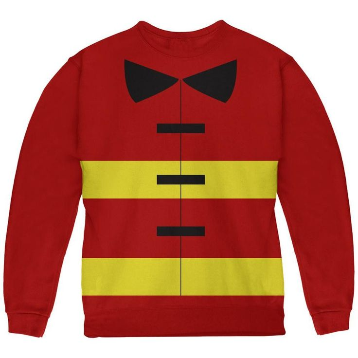 Halloween Fireman Costume Red Youth Sweatshirt