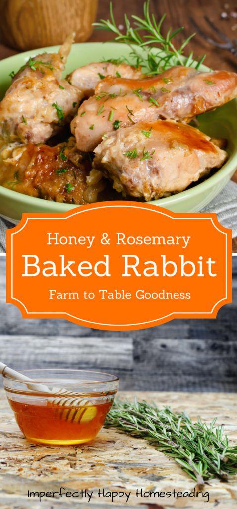 Easy to Make Honey Rosemary Baked Rabbit Recipe. Farm to table recipe perfect for those raising meat rabbits.: