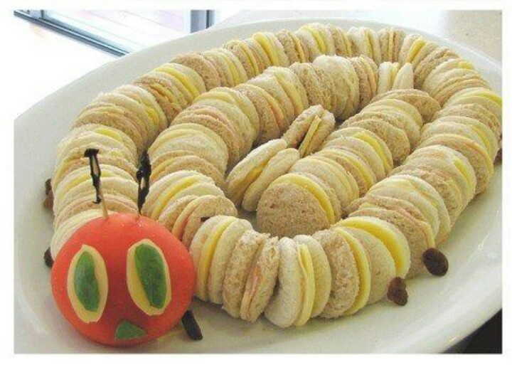 The Hungry Caterpillar food idea! Awesome for a kids bday!