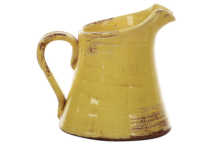 Distressed Yellow Terracotta Pitcher on One Kings Lane today   # Pinterest++ for iPad #