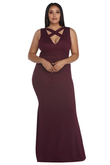 Plus Aurelia Burgundy Glitter Crepe Dress Windsor Plus Pinterest