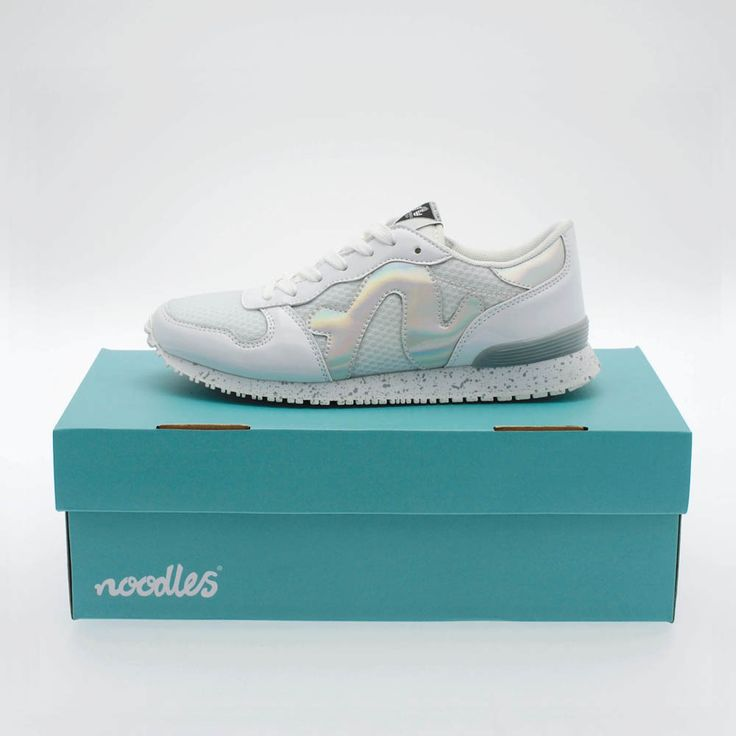 Our brand new Noodles Runabout retrofuturistic trainers.