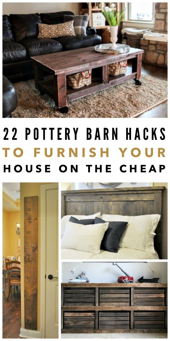 Pottery Barn has gorgeous stuff for the home, but if we're being honest, sometimes the items are out of our budget… like, way out of our budget. So what's a girl who's strapped for cash going to do? Make one of these Pottery Barn hacks, of course. They look just as beautiful as the name brand furnishings, but if you're not afraid of a little DIY, you can make them for a fraction of the price.