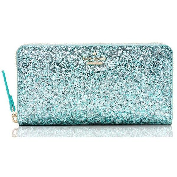 Kate Spade Glitter Bug Lacey ($158) ❤ liked on Polyvore featuring bags, wallets, glitter wallet, blue bag, kate spade wallet, kate spade bags and kate spade
