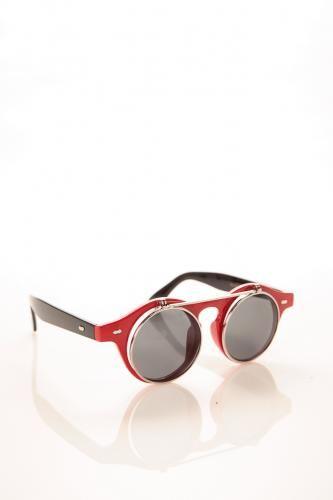 Double Bridge Flap Tortoise Sunglasses BLUE