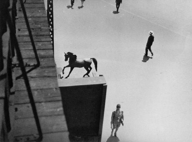 BERENICE ABBOTT, El at Columbus Avenue and Broadway, c. 1935-39