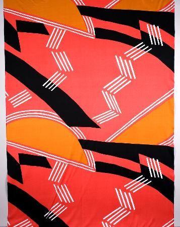 Magic moon 1972. Production: Katja of Sweden. Qiana-jersey, printed.