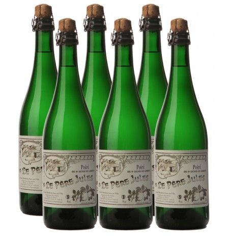 Case of 6 bottles Pear Cider Le Pere Jules 3% 750ml