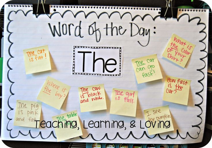 Write a sentence using the Word of the Day ...and add it to the chart!