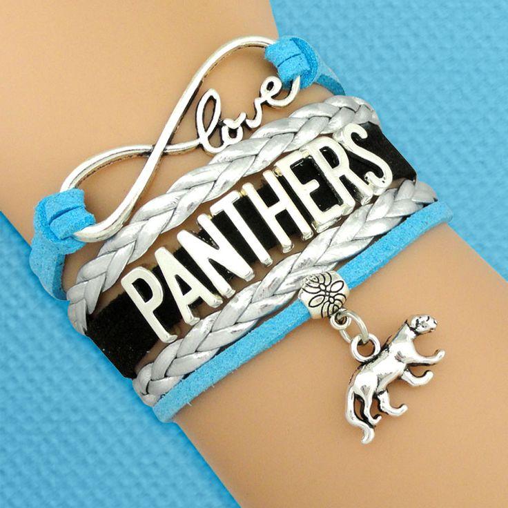 <3 this handmade Carolina Panthers bracelet - definitely on my gift list!