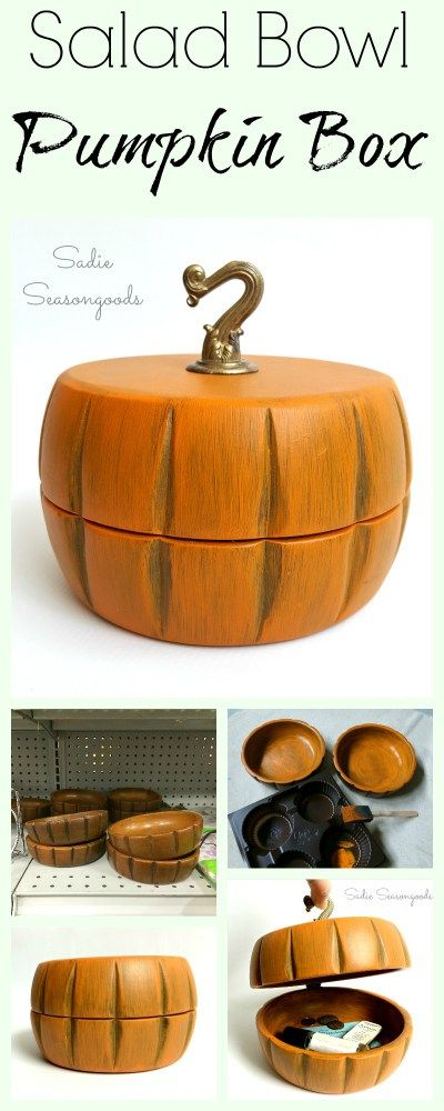 The cutest little pumpkin decor I've ever seen...was made from repurposed…