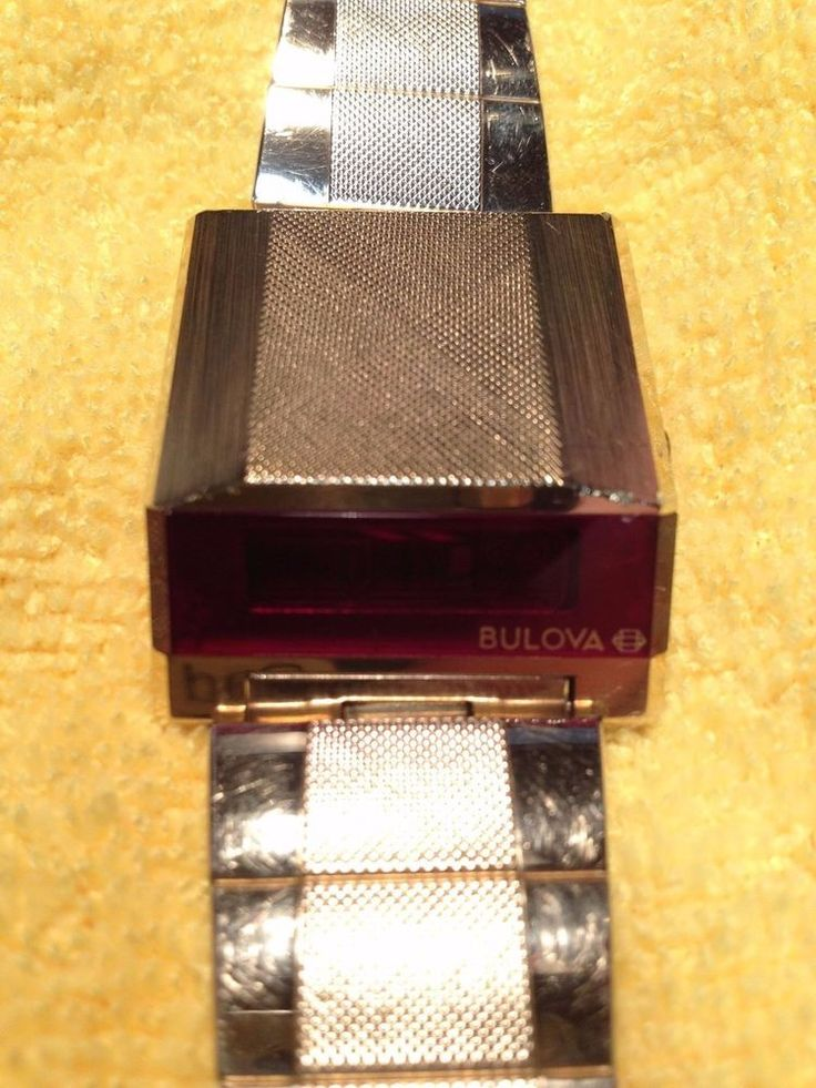Vintage 1977 N7 Bulova Red LED Digital Computron Wedge Driver Watch - OEM Manual #Bulova