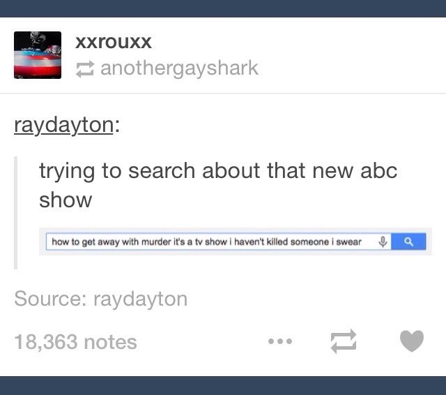 Tumblr; How to Get Away with Murder; TV; TV show; Google; Internet; Internet search