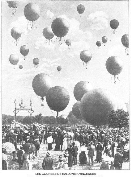 En 1900, les courses de ballons deviennent le sport à la mode et constituent l'évènementdes sports de l'Exposition Universelle de 1900.