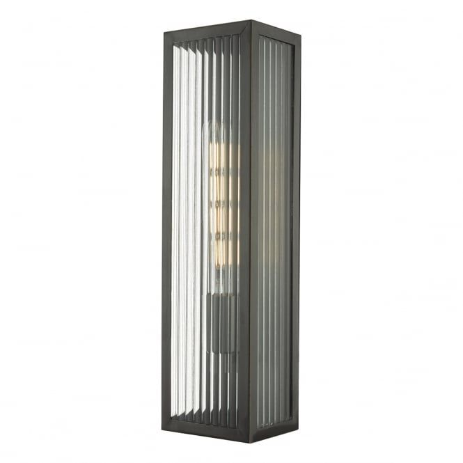 Keegan Rubbed Bronze Outdoor Wall Light With Ribbed Glass Panels Large Modern Light Fixtures Exterior Wall Light Outdoor Wall Lighting