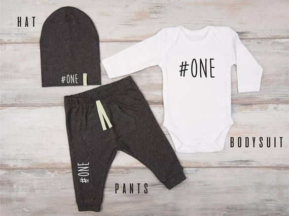 First Birthday Boy Outfit The item is available to purchase as: Hat ONLY Pants ONLY Bodysuit* ONLY Bodysuit* & Hat Bodysuit* & Pants Hat & Pants Bodysuit*, Pants & Hat * Long Sleeve The item is available with short sleeve bodysuit: