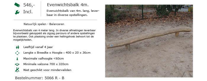 5066 R-B Evenwichtsbalk 4m
