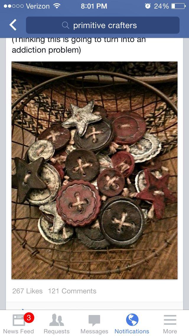 Best 2207 christmas crafts diy ideas on pinterest christmas primitive salt dough buttons solutioingenieria Image collections