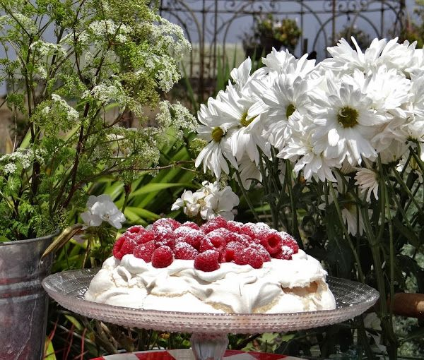 ...a quiet life...: a perfect day for a picnic~ Rosewater Pavlova