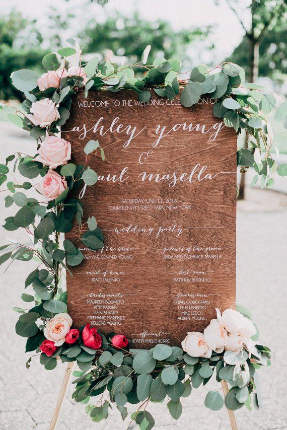 PaperandPineCo    Ceremony Sign, Program Sign, Wedding Party Sign, Wood Wedding Sign