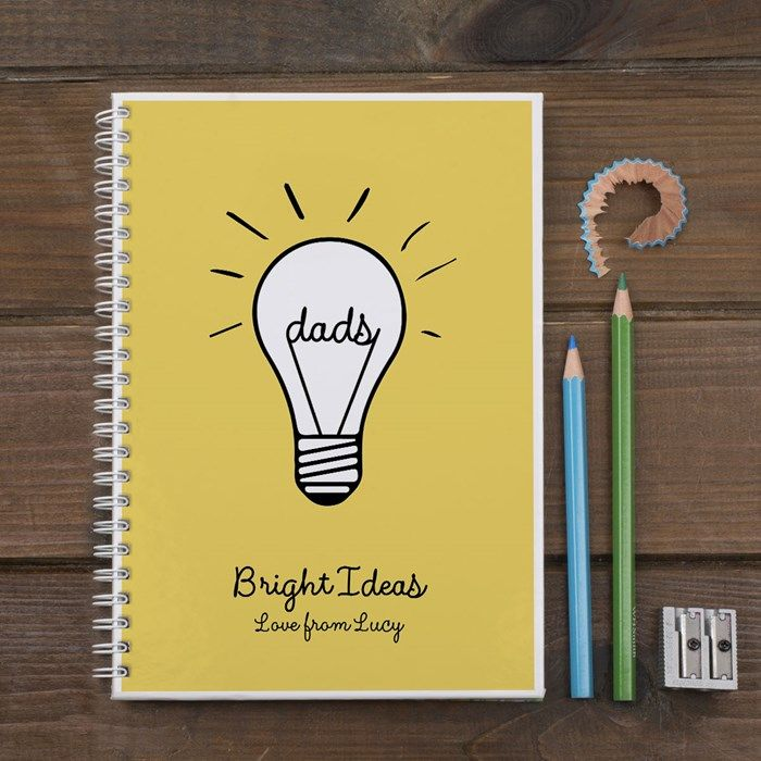 25 parasta ideaa pinterestiss card factory nahka personalised dads bright ideas notebook card factory negle Images