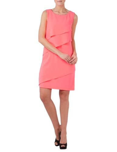 Laurel Kleid im Stufen-Look in Rosé - 1
