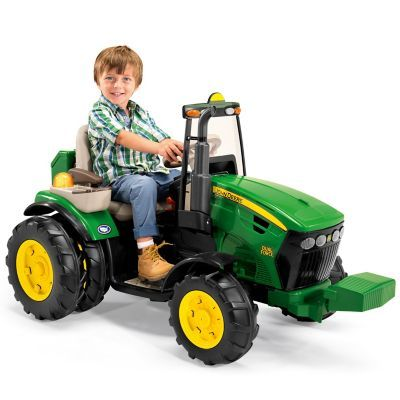 Exclusive Peg Perego John Deere Dual Force Ride On Tractor Toy