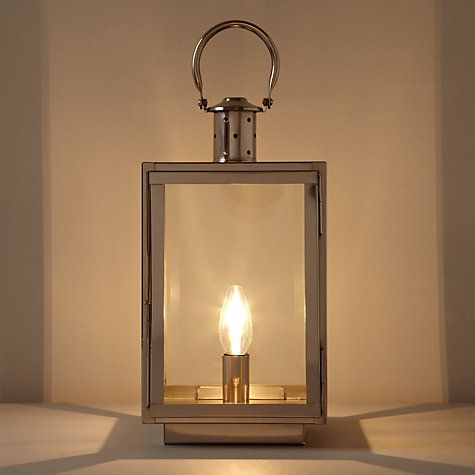 Buy John Lewis Croft Collection Whitby Box Lantern Table Lamp Nickel Online At Johnlewis