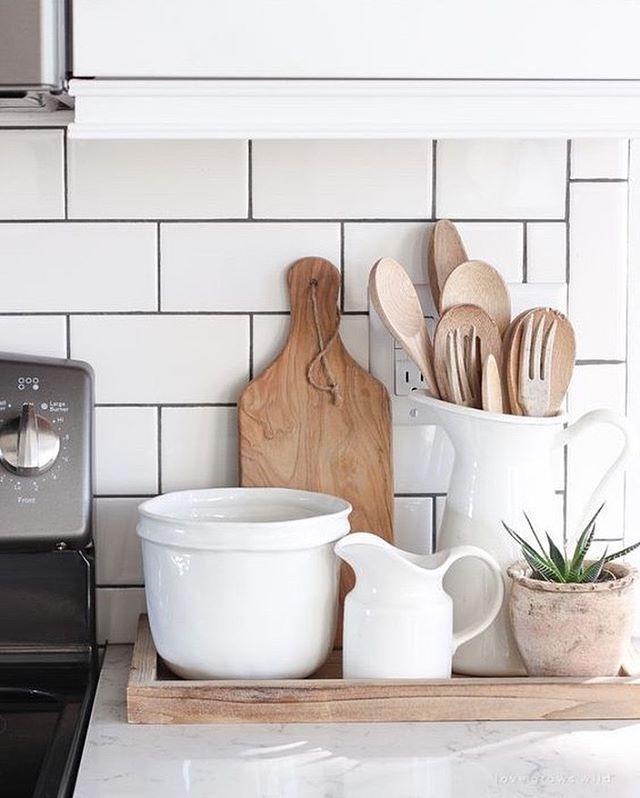 The Best Window Colours For Stone And Brick Kitchen Tray Decor Farmhouse Kitchen Decor Kitchen Countertop Decor