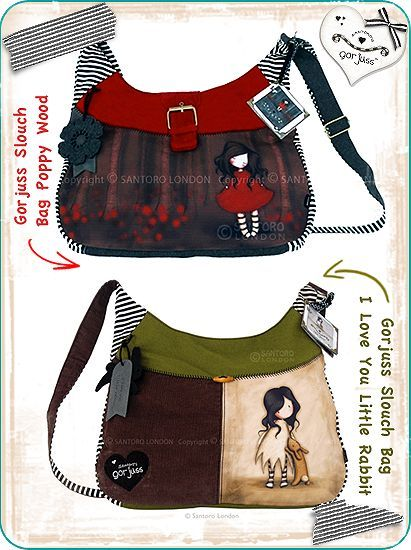 Gorjuss Slouch Bags by `gorjuss