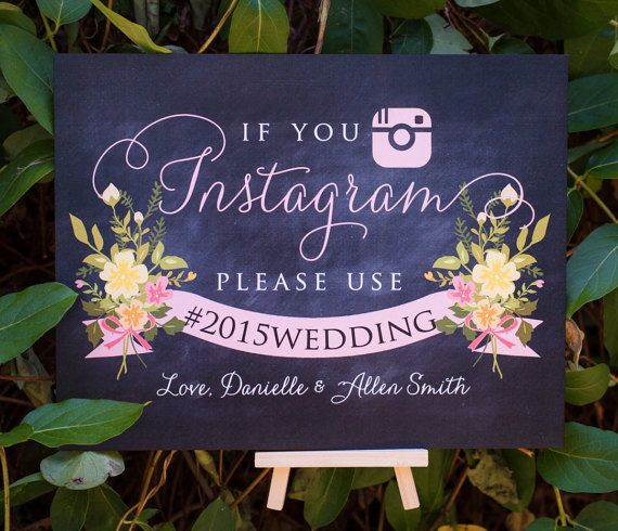 If you Instagram sign Instagram wedding sign Custom от TheFindSac