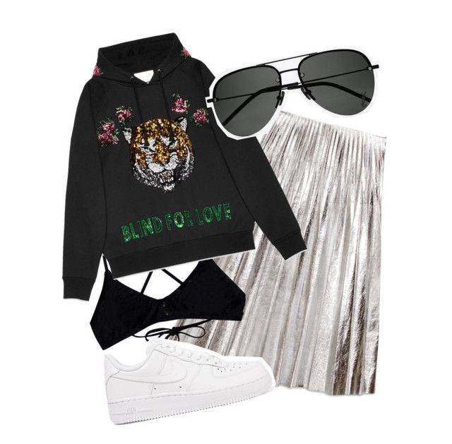 """""""Pistol whipped"""" by sapphire-effect on Polyvore featuring Gucci, RVCA, NIKE and Yves Saint Laurent"""