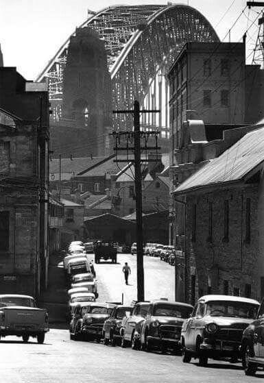 The Rocks from Harrington St,in Sydney in 1960.A♥W