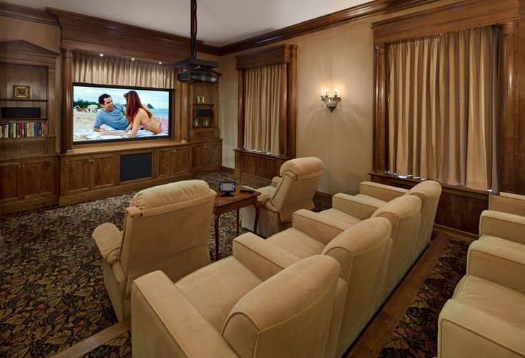Impressive projector and spacious seating in this private theatre