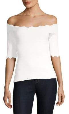 2dbbef5f960 Milly Scalloped Off-The-Shoulder Top | Women's Tops and Blouses ...