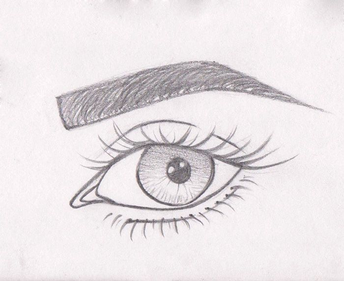 картинки глаз рисовать легко снялась
