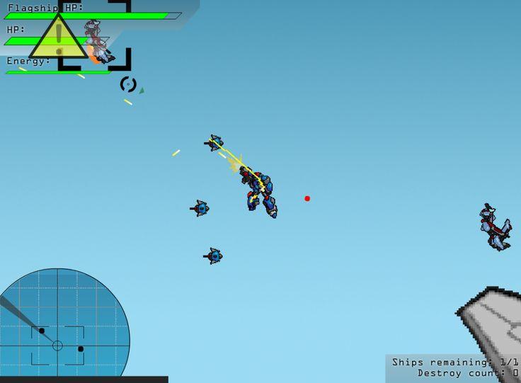 Dev robotların savaş arenasında olduğu gelecektesin. Savaş gemini koruman gerekiyor ve robotunla uçarak gelen saldırganları öldürmelisin. Kazandıkça para kazan ve daha robotlar al, silahlarını geliştir. Kontroller: WASD - Hareket etmek için, Boşluk - Drone yollamak için kullanın, Escape - Oyunu duraklatır, Ses oyun durdurulduğunda kontrol edilebilir.