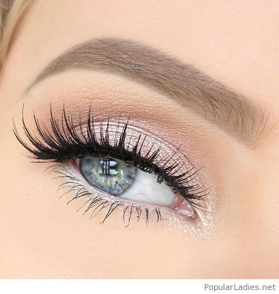 Awesome long lashes and pink eye makeup