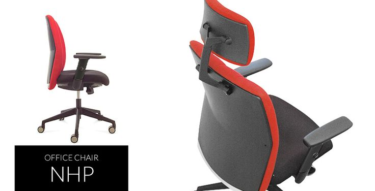 Nhp | HighPoint Office Slim design office chair with modern adjustable arm rest design and synchronized mechanism.