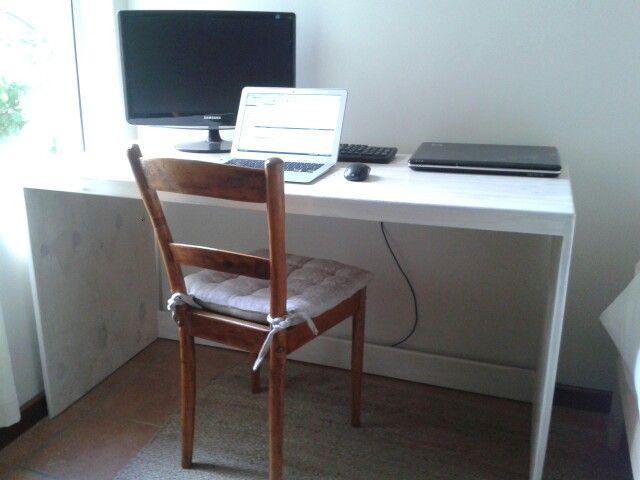 White Washed pine desk