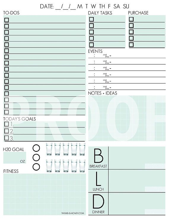 Planner Page Templates Endearing 94 Best Printables Images On Pinterest  Free Printables Draping .