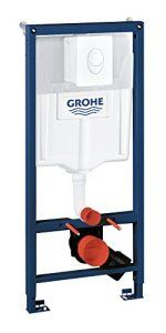 GROHE Rapid SL Set 3en 1pour WC suspendu (1,13m, supports muraux et chasse d'eau Skate Air Plaque)–Blanc alpin