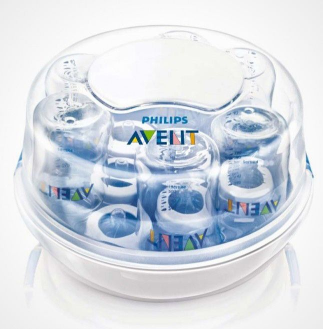 14. Avent Microwave Steam Sterilizer ($32): Talk about a time saver. This sterilizer can clean all of your bottles at once! So put away the rubber gloves and go spend some more QT with your cutie.