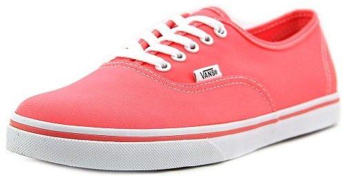 Vans Authentic Lo Pro Women US 8.5 Pink Skate Shoe